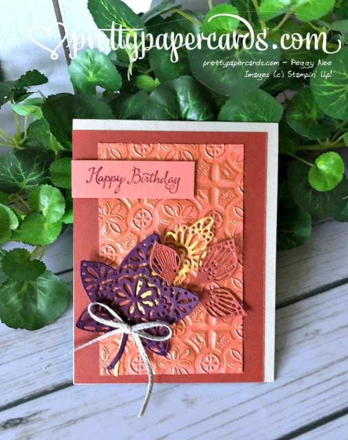 Stampin' Up! Falling for Leaves Bronze - Prettypapercards - stampinup