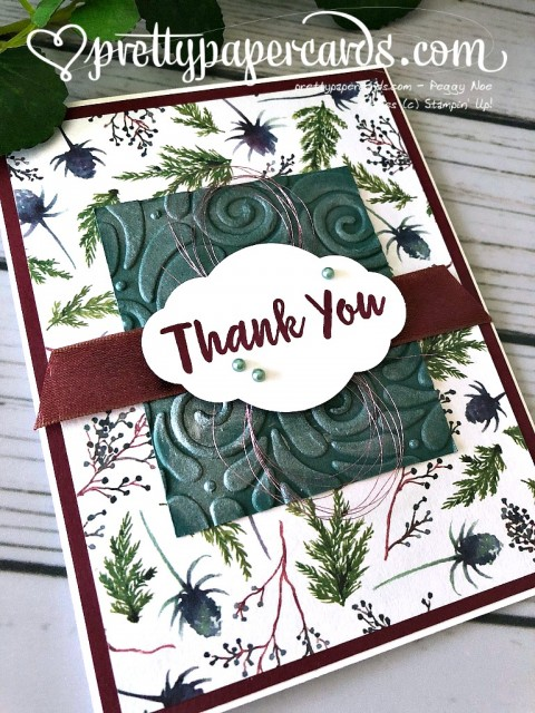 Stampin' Up! Holiday Thank You - Prettypapercards - stampinup