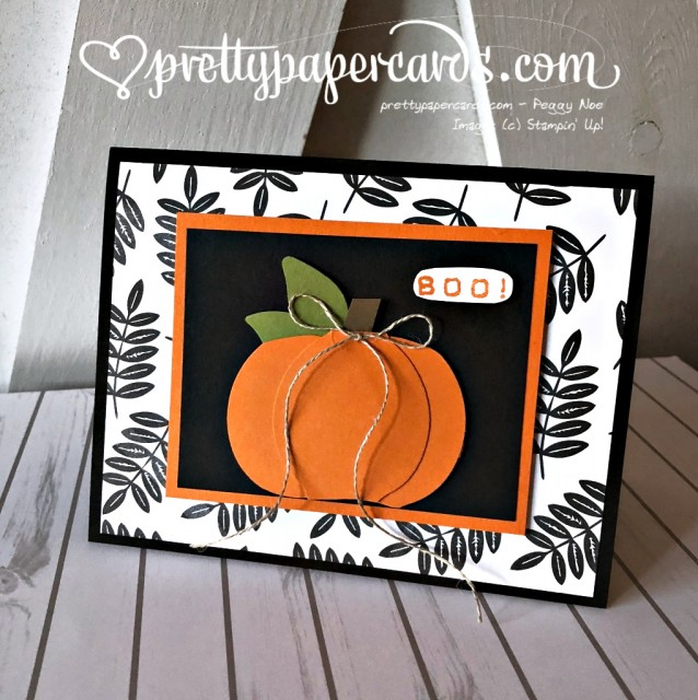 Stampin' Up! Pumpkin Card - Peggy Noe - stampinup