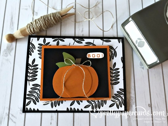 Stampin' Up! Pumpkin Card - prettypapercards - stampinup