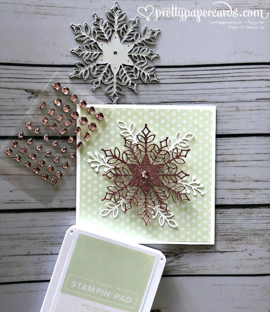 Stampin' Up! Snowfall Thinlits - Peggy Noe - stampinup