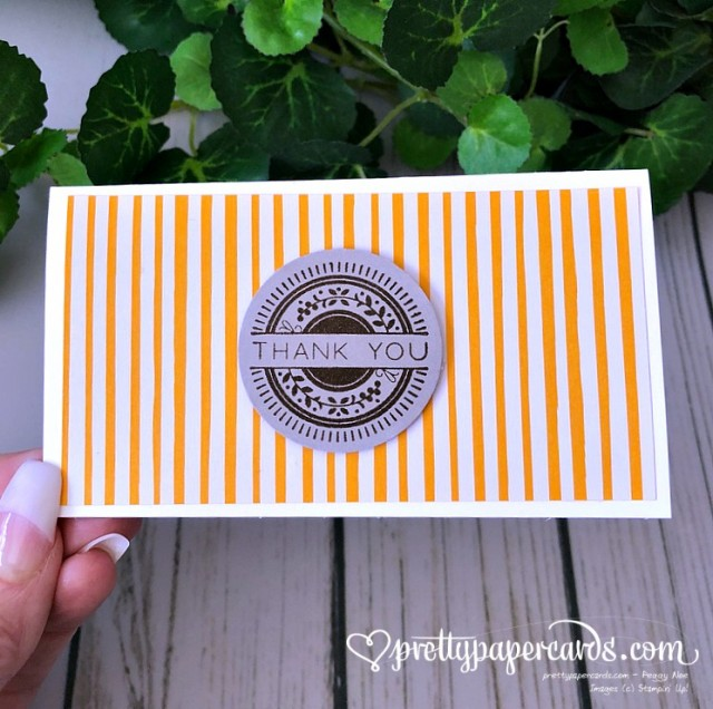 Stampin' Up! Stitched All Around Thank You - Peggy Noe - stampinup