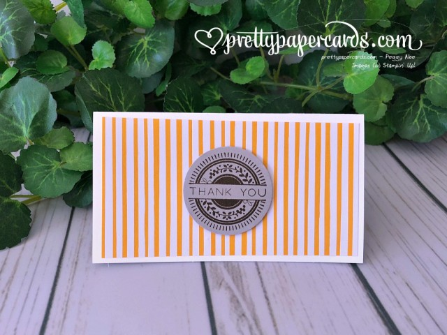 Stampin' Up! Stitched Thank You - Prettypapercards - stampinup