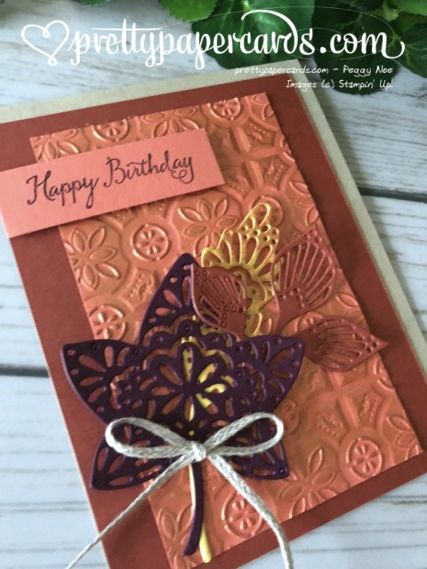 Stampin' Up! Tin Tile Fall Card - Peggy Noe - stampinup