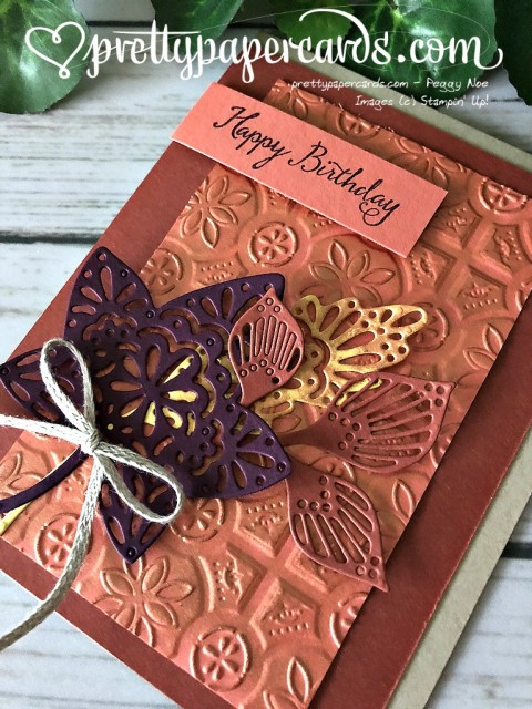 Stampin' Up! Tin Tile Fall Card - Prettypapercards - stampinup