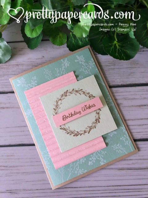 Stampin' Up! Wishing You Well Birthday - Prettypapercards - stampinup