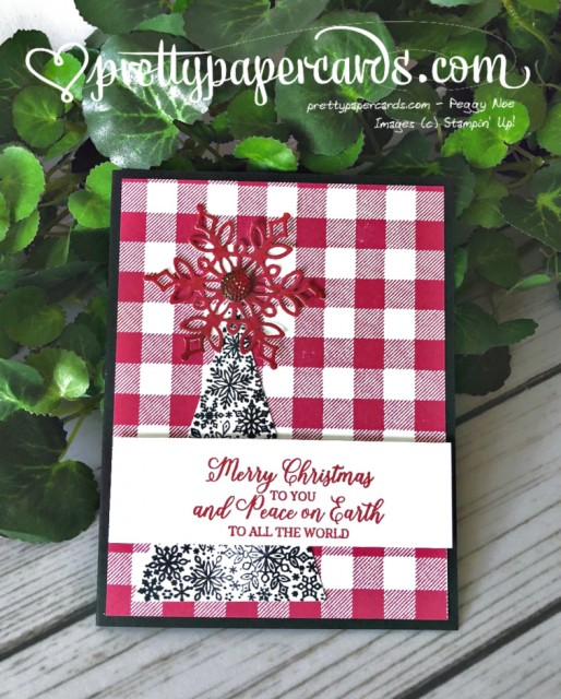 Stampin' Up! Buffalo Check Snowflake - Peggy Noe - stampinup