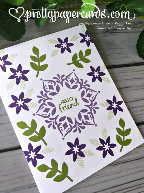 Stampin' Up! Happiness Surrounds Card - Peggy Noe - stampinup
