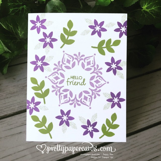 Stampin' Up! Happiness Surrounds Friend card - Peggy Noe - stampinup
