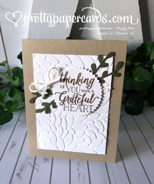 Stampin' Up! Falling for Leaves Grateful Card - prettypapercards - stampinup