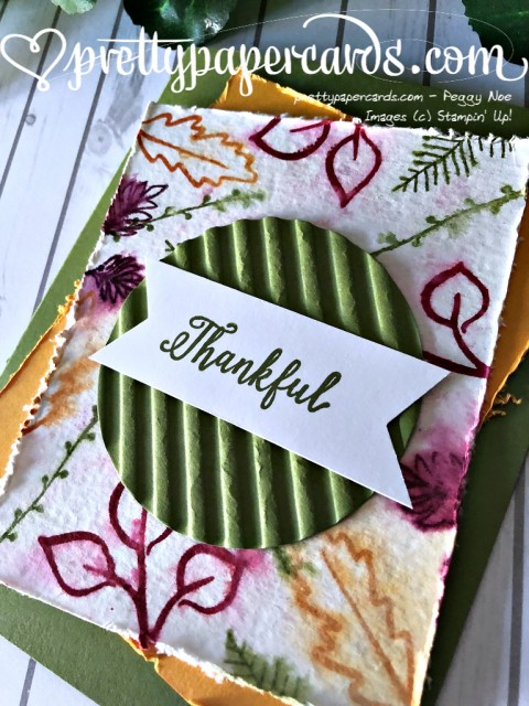 Stampin' Up! Falling for Leaves - Peggy Noe - stampinup
