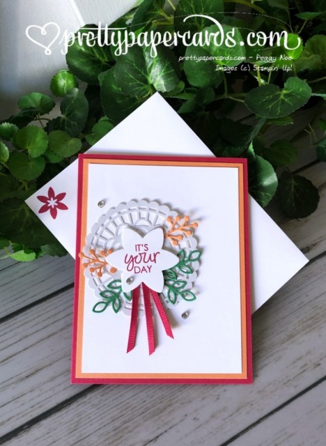 Stampin' Up! Happiness Surrounds Card - prettypapercards - stampinup