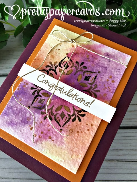 Stampin' Up! Happiness Surrounds Congratulations Card - Peggy Noe - stampinup