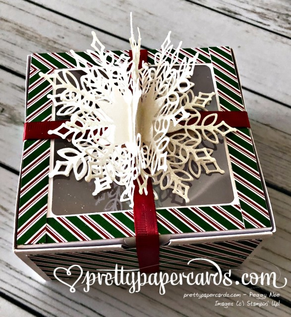 Stampin' Up! Snowfall Thinlits Gift - Prettypapercards - stampinup
