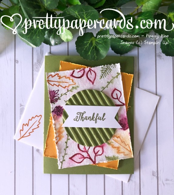 Stampin' Up! Thankful Card - Peggy Noe - stampinup