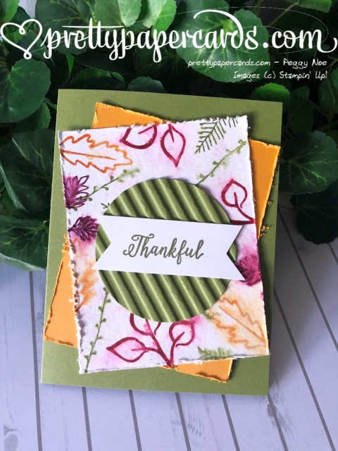Stampin' Up! Thankful Falling for Leaves - prettypapercards - stampinup