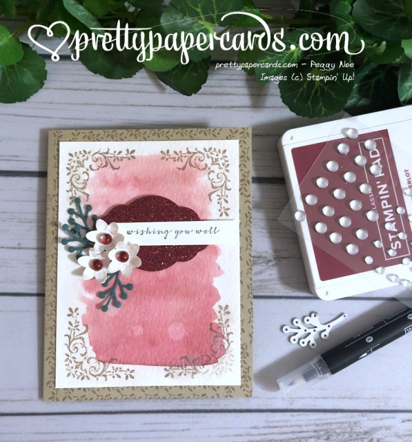 Stampin' Up! Wishing You Well Card - Peggy Noe - stampinup