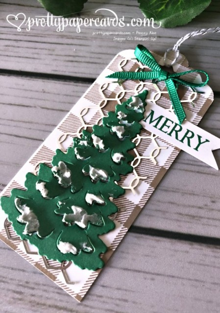 Stampin' Up! Christmas Tag - Peggy Noe - stampinup