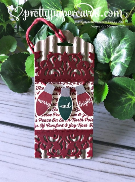 Stampin' Up! Christmas Tag - prettypapercards - stampinup