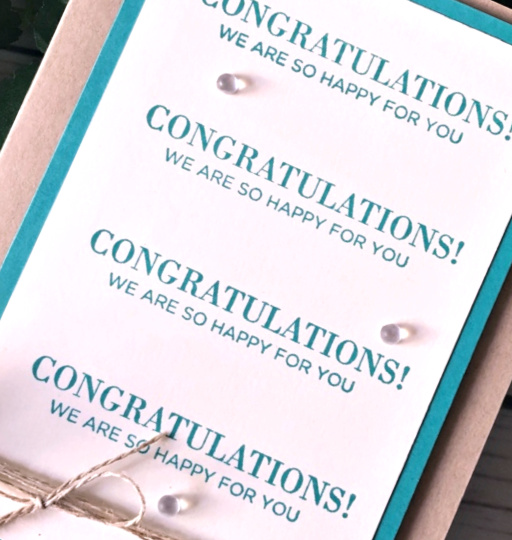 Stampin' Up! Congratulations Card -prettypapercards - stampinup