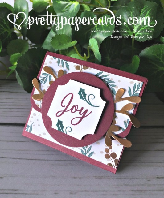 Stampin' Up! Holiday Treat Holder - Peggy Noe - stampinup