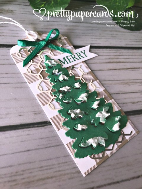 Stampin' Up! In the Woods Tag - prettypapercards - stampinup