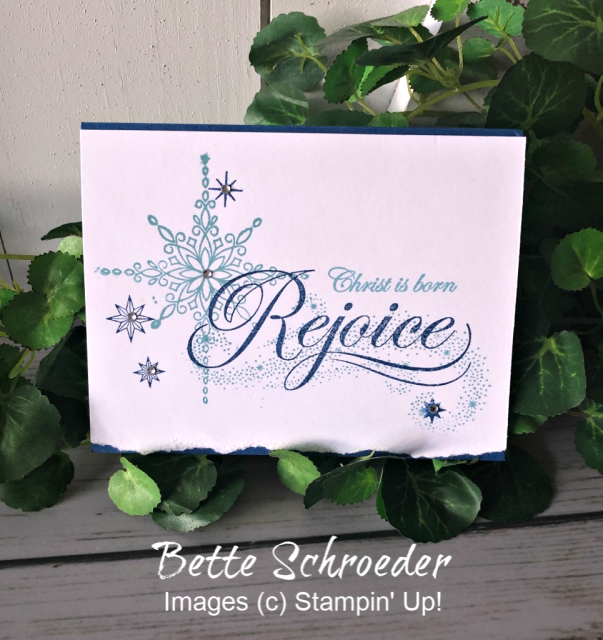 Stampin' Up! Star of Light Card - prettypapercards - stampinup