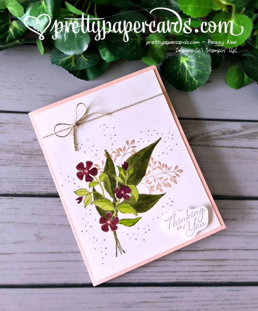 Stampin' Up! Wonderful Romance Card - Peggy Noe - stampinup
