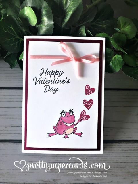 Stampin' Up! Frog Valentine Card - Peggy Noe - stampinup