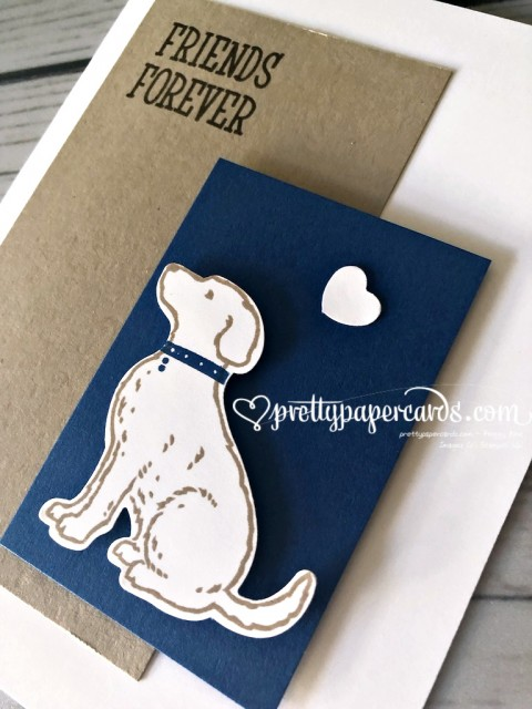 Stampin' Up! Happy Tails Dog Card - prettypapercards - stampinup