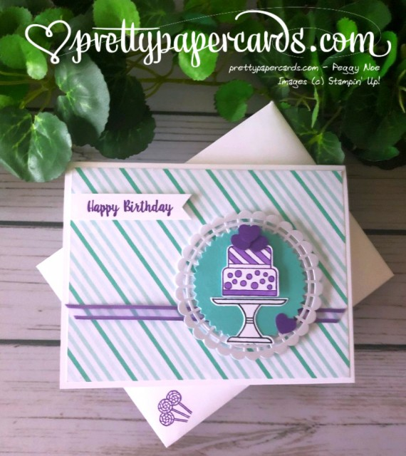 Stampin' Up! Piece of Cake Card - prettypapercards - stampinup