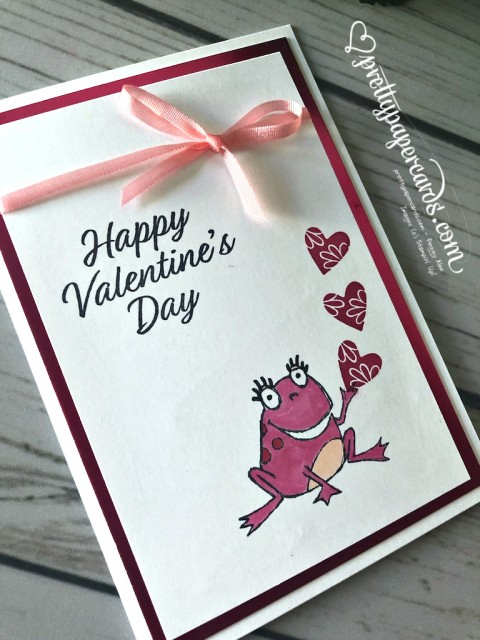 Stampin' Up! So Hoppy Valentine Card - Peggy Noe - stampinup