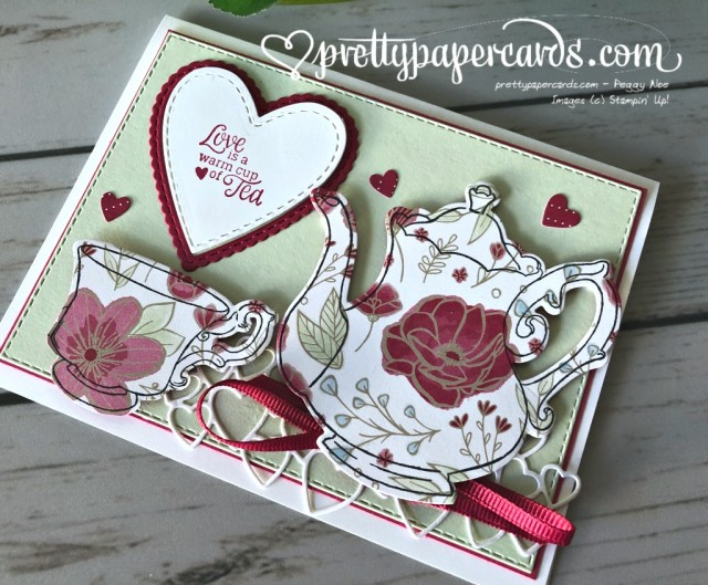 Stampin' Up! Tea Together Card - prettypapercards - stampinup