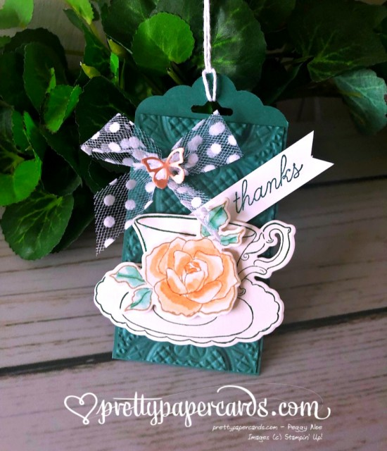 Stampin' Up! Tea Together Thank You - Peggy Noe - stampinup