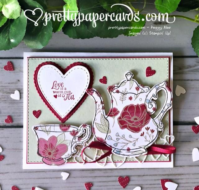 Stampin' Up! Tea Together Valentine - Peggy Noe - stampinup