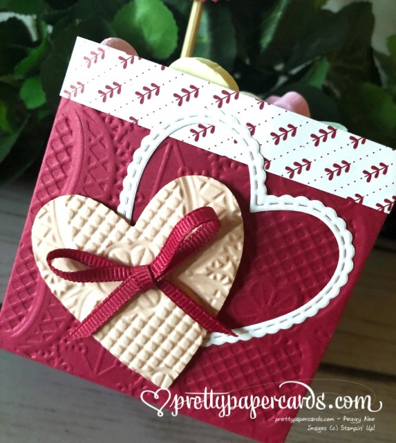 Stampin' Up! Valentine Treat Holder - Peggy Noe - stampiup