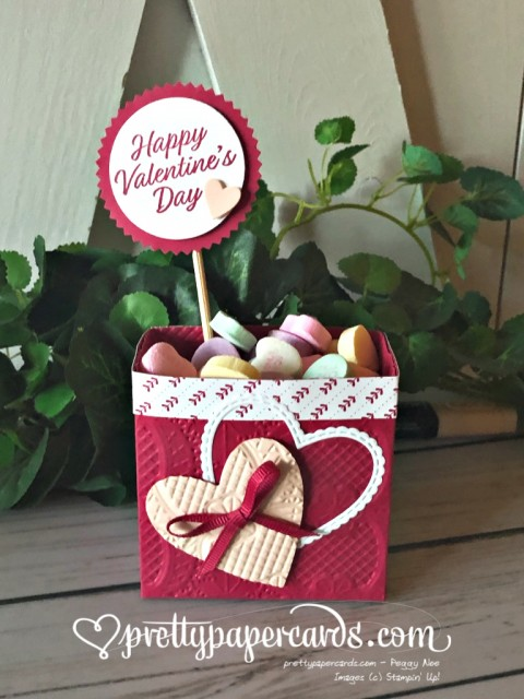 Stampin' Up! Valentine's Day Treat Holder - Peggy Noe - stampinup