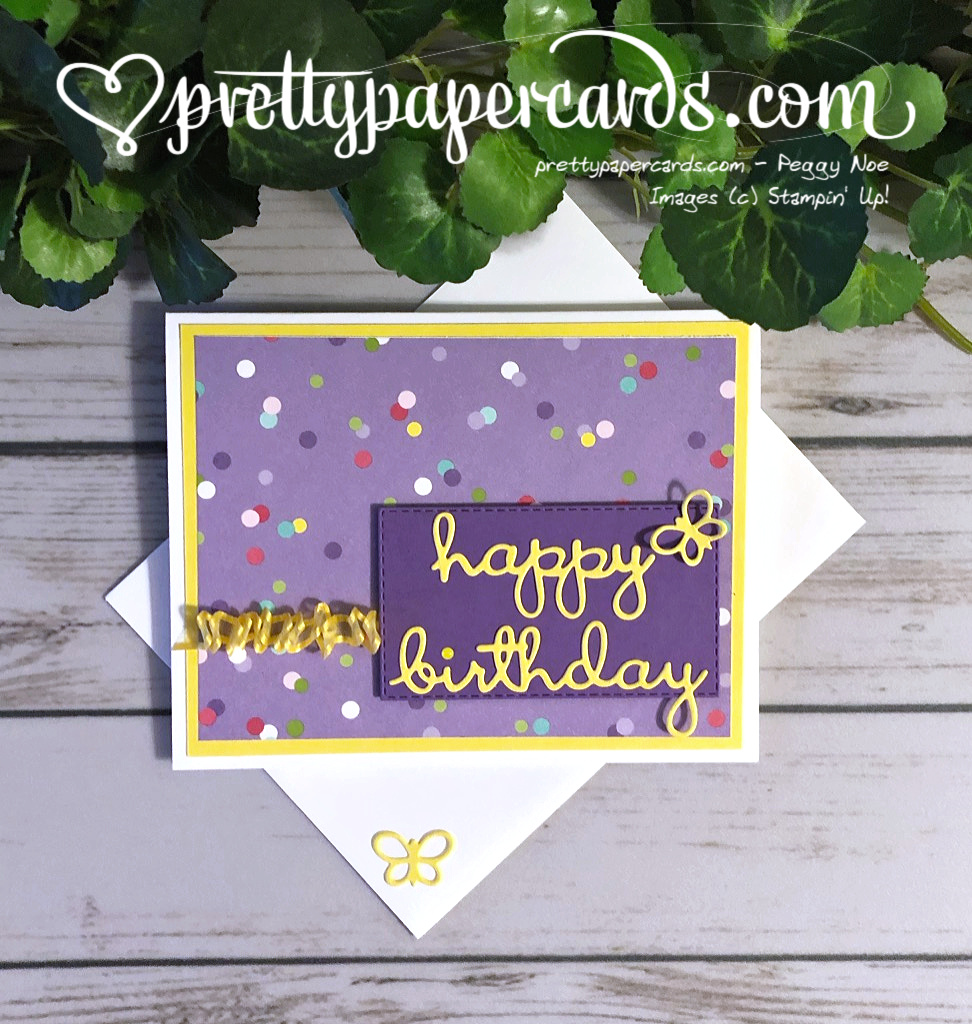 Stampin' Up! Well Written Birthday - Peggy Noe - stampinup