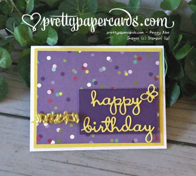 Stampin' Up! Well Written Birthday - prettypapercards - stampinup