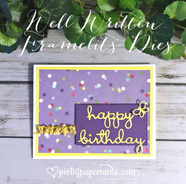 Stampin' Up! Well Written Happy Birthday - Peggy Noe - stampinup