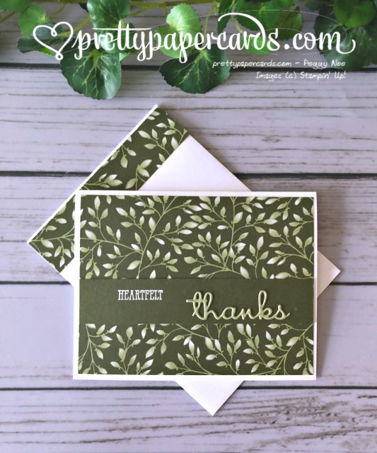 Stampin' Up! Well Written Thanks Card - Peggy Noe - stampinup