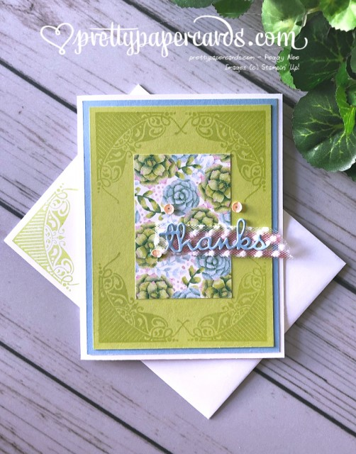 Stampin' Up! All Adorned Thanks - Peggy Noe - stampinup