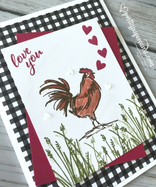 Stampin' Up! Home to Roost Valentine - Peggy Noe - stampinup