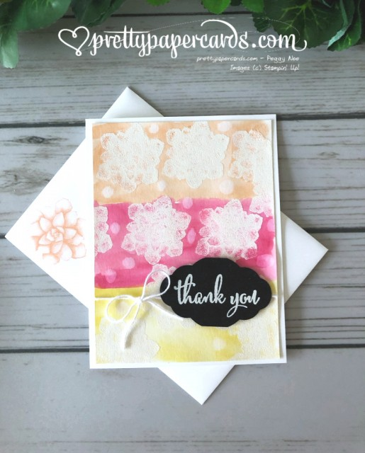 Stampin' Up! Painted Seasons Card GDP176 - Peggy Noe - stampinup