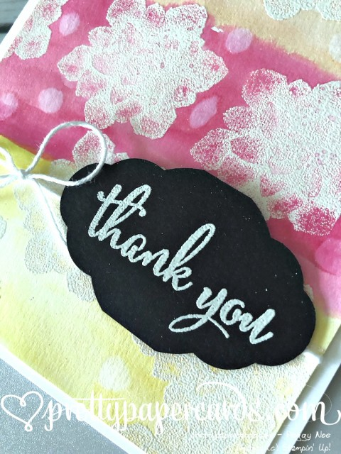 Stampin' Up! Painted Seasons Thank You - Pretty Paper Cards - stampinup