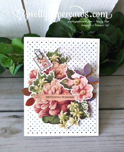 Stampin' Up! Sending Wishes Card - prettypapercards - stampinup