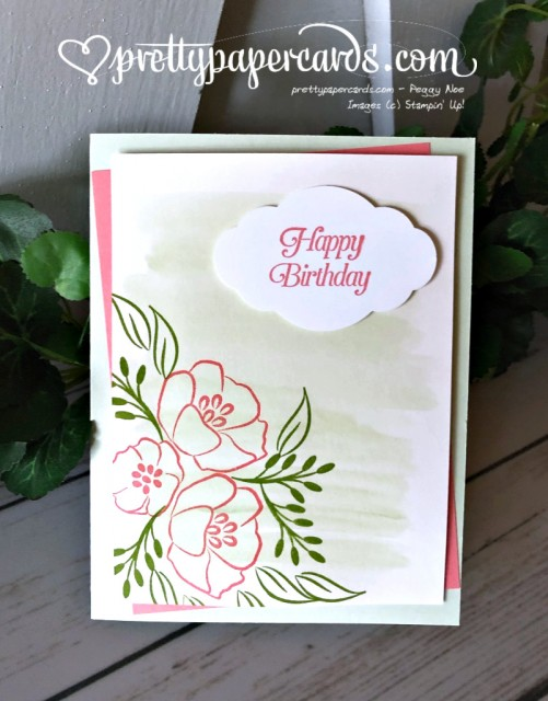 Stampin' Up! Watercolor Wash All That You Are - Pretty Paper Cards - stampinup