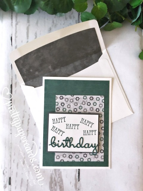 Stampin' Up! Well Said Birthday Card - Peggy Noe - stampinup