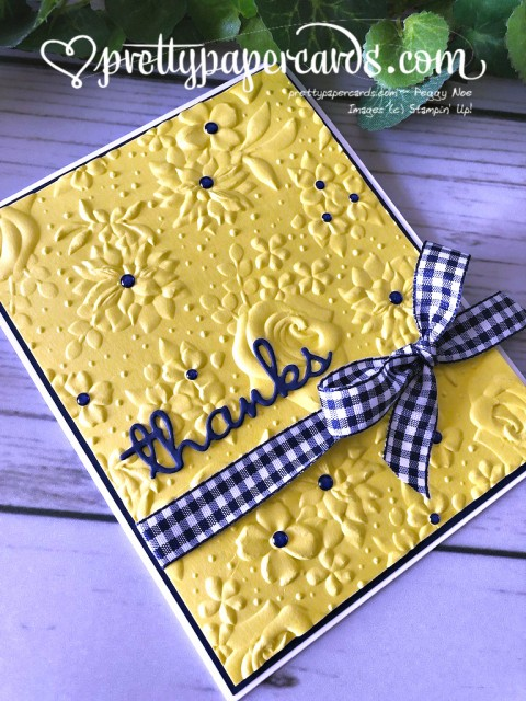 Stampin' Up! Country Floral Thank You - Peggy Noe - stampinup