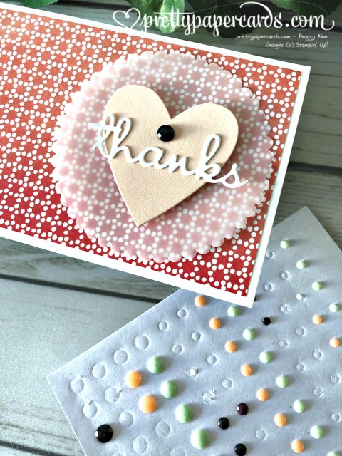 Stampin' Up! Heart of Thanks Card - Peggy Noe - stampinup